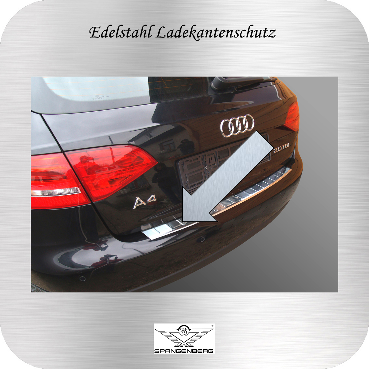Ladekantenschutz Edelstahl Audi A4 Avant 8K5 B8 vor facelift 2008-12 3235504
