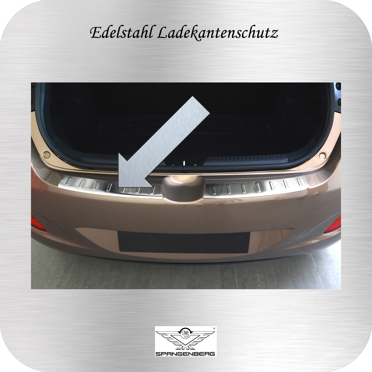 Ladekantenschutz Edelstahl Hyundai i30 5-Türer Typ GD 2012-17 3235628
