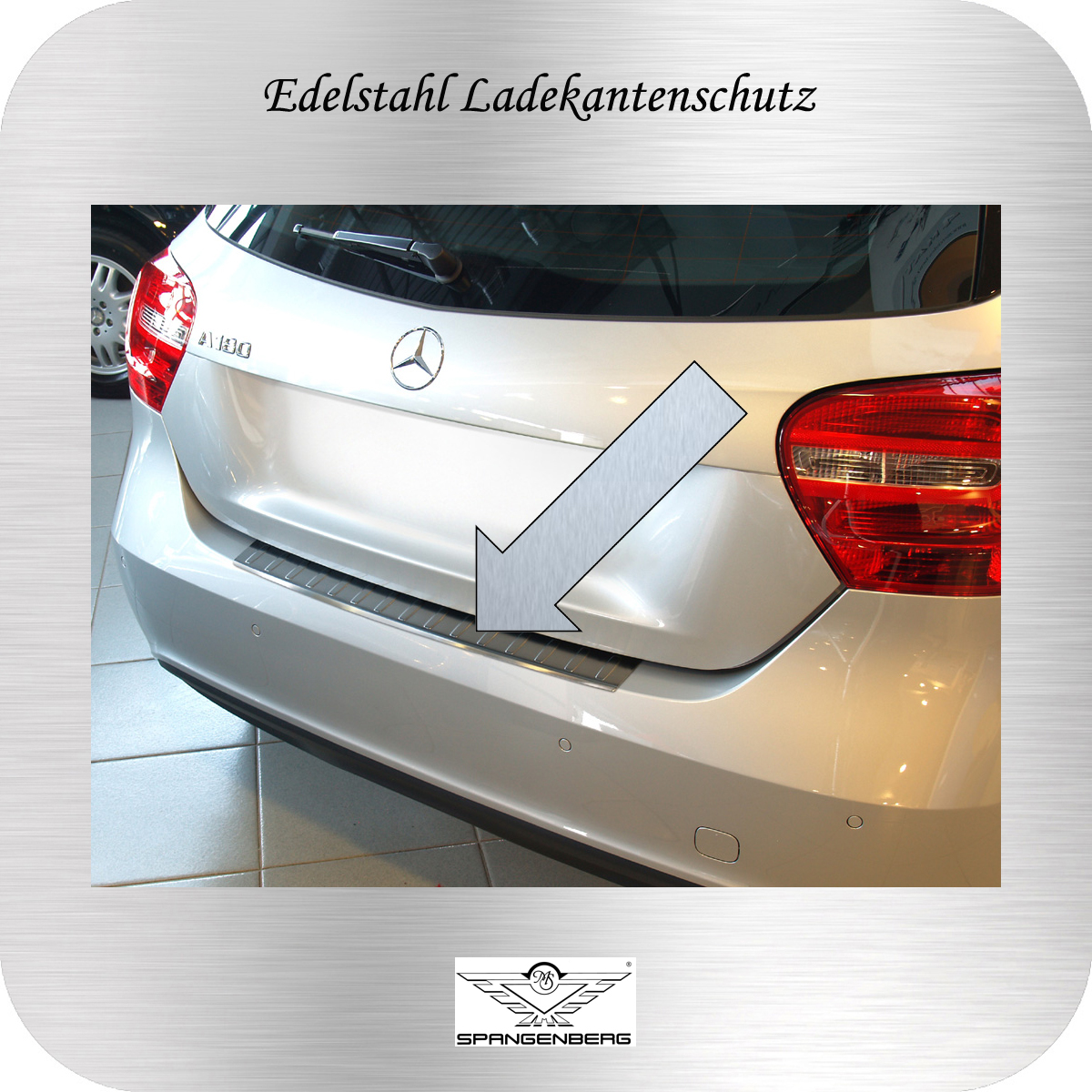 Ladekantenschutz Edelstahl Mercedes A-Klasse W176 2012- 3235664