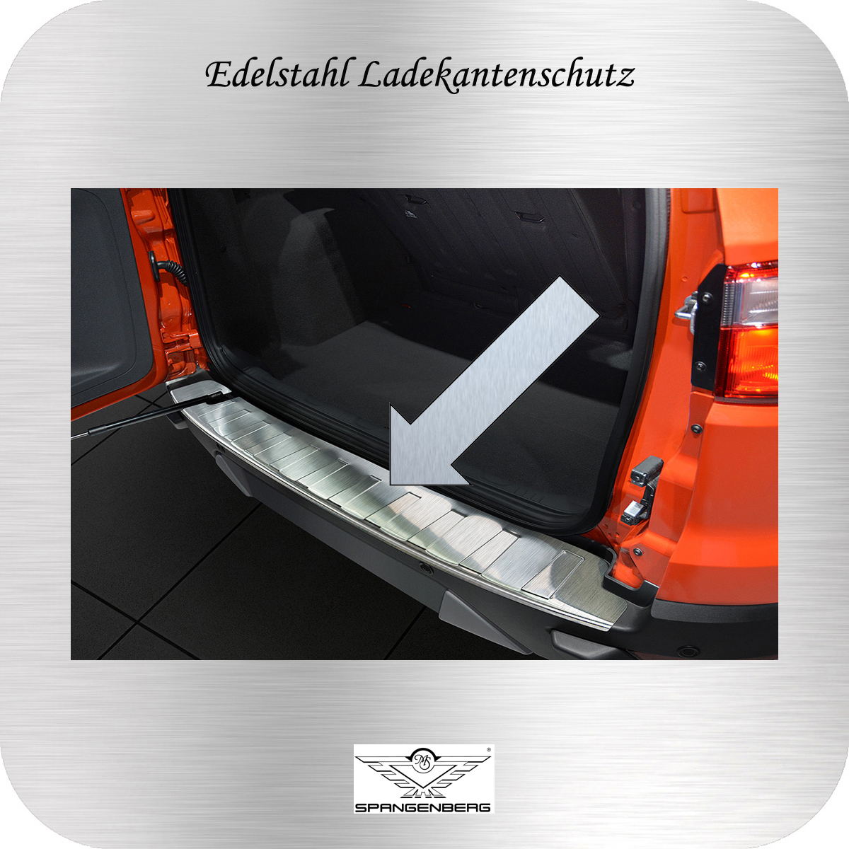 Ladekantenschutz Edelstahl Ford Ecosport II SUV Kombi vor Mopf 2012-17 3235698