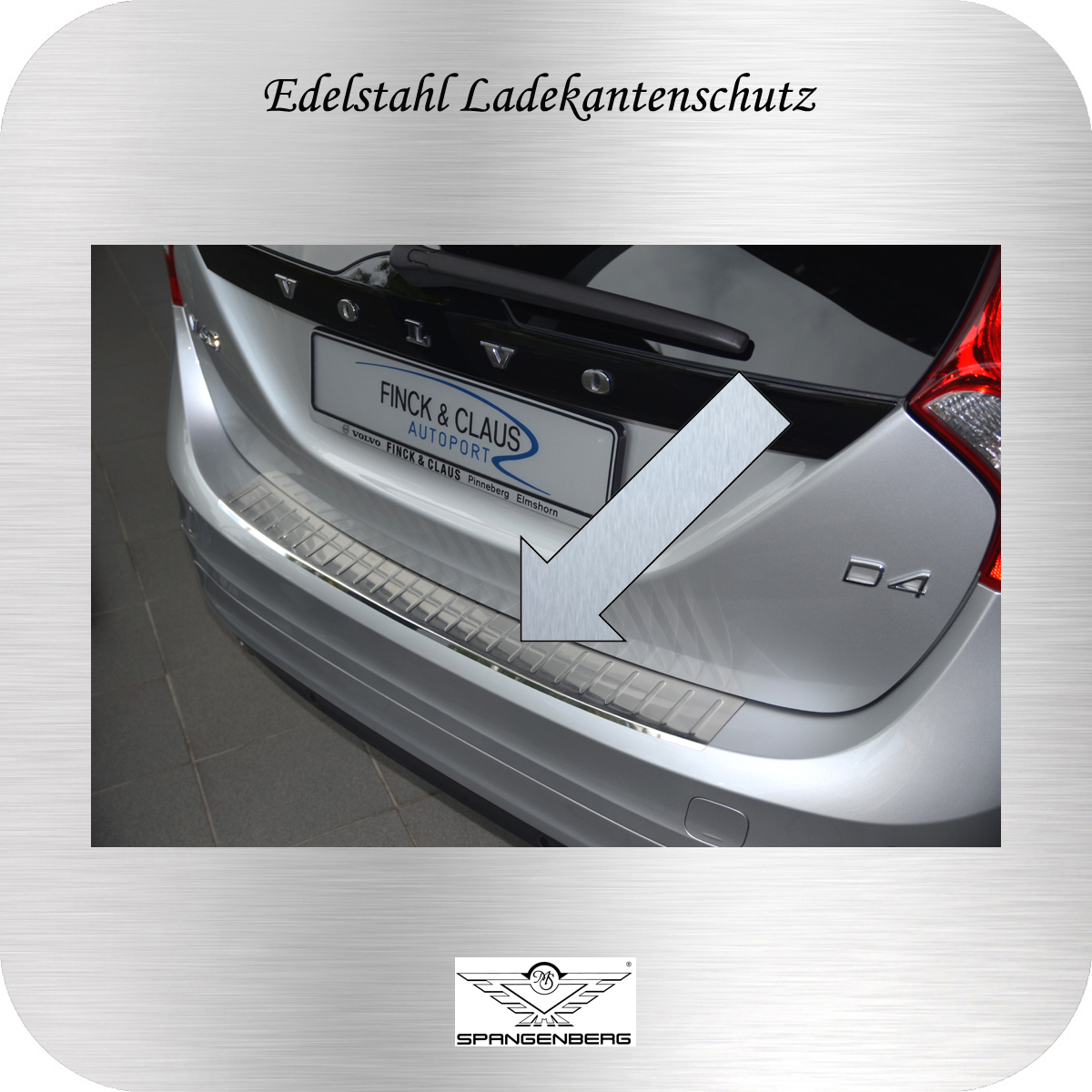 Ladekantenschutz Edelstahl Volvo V60 Kombi 2010- 3235722