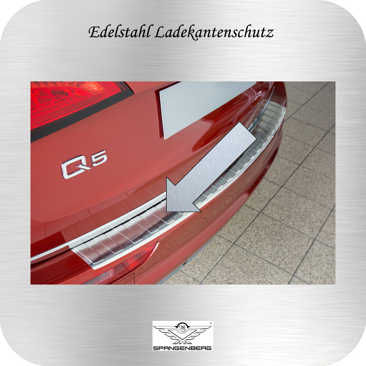 Ladekantenschutz Edelstahl Audi Q5 I SUV Typ 8R Kombi 2008-16 3235729