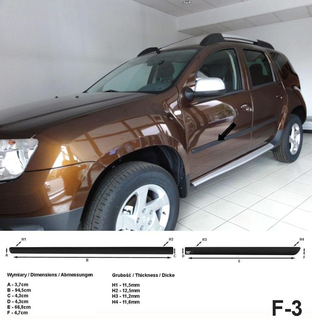 Seitenschutzleisten schwarz für Dacia Duster I SUV Kombi 2010-17 F3