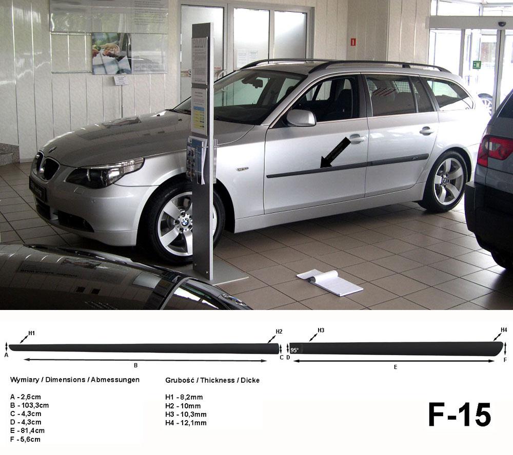 Seitenschutzleisten schwarz für BMW 5er E61 Touring Kombi 06.2004-12.2010 F15