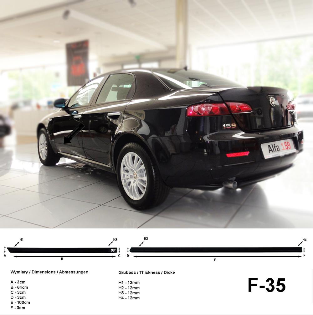 Seitenschutzleisten schwarz für Alfa Romeo 159 Limousine 4-Türer 09.05-11.11 F35