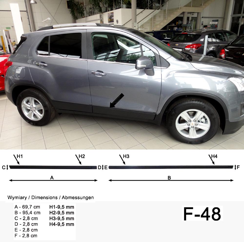 Seitenschutzleisten schwarz für Chevrolet Trax SUV ab Baujahr 12.2012- F48