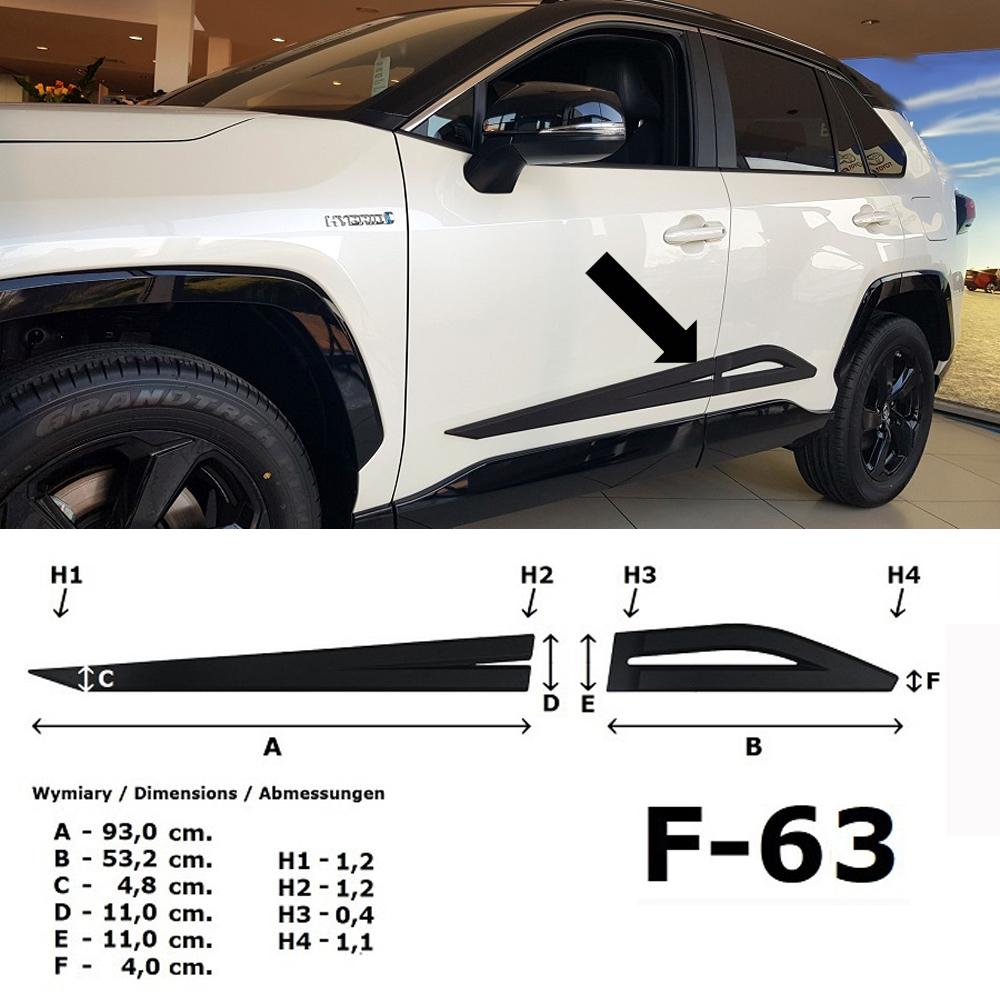 Seitenschutzleisten Design A für Toyota RAV 4 5.Generation ab Bj. 01.2019- F63