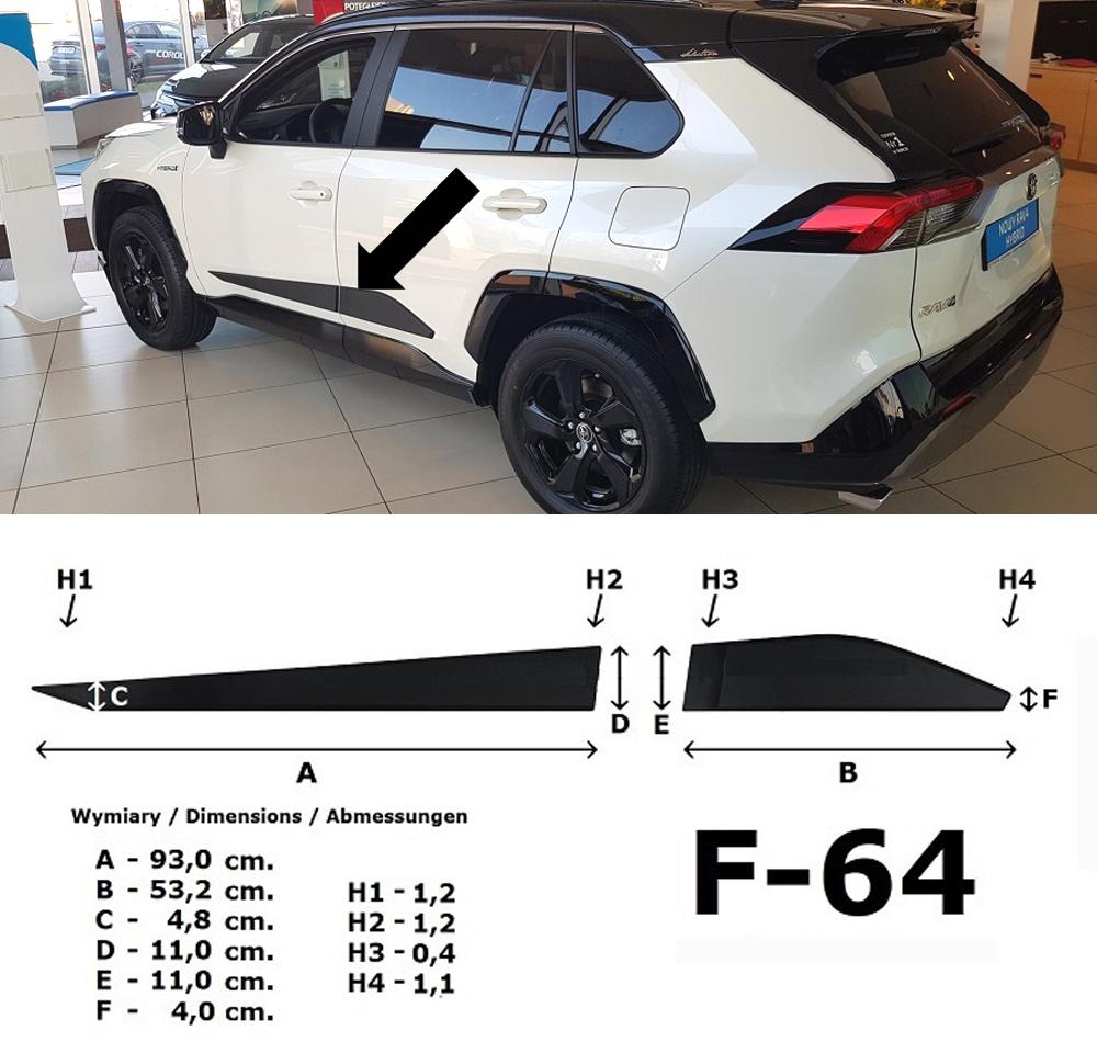 Seitenschutzleisten Design B für Toyota RAV 4 5.Generation ab Bj. 01.2019- F64