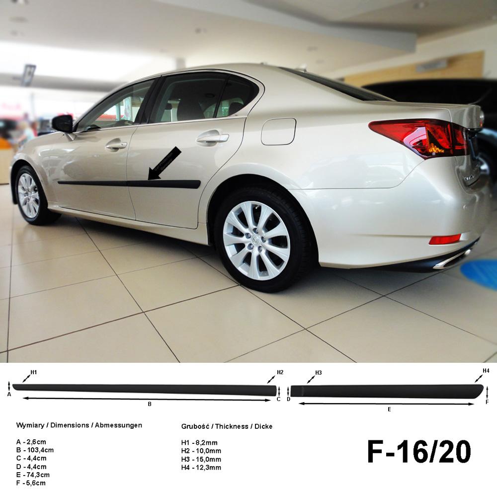 Seitenschutzleisten schwarz für Lexus GS IV Limousine 4.Gen. ab 2012- F16/20