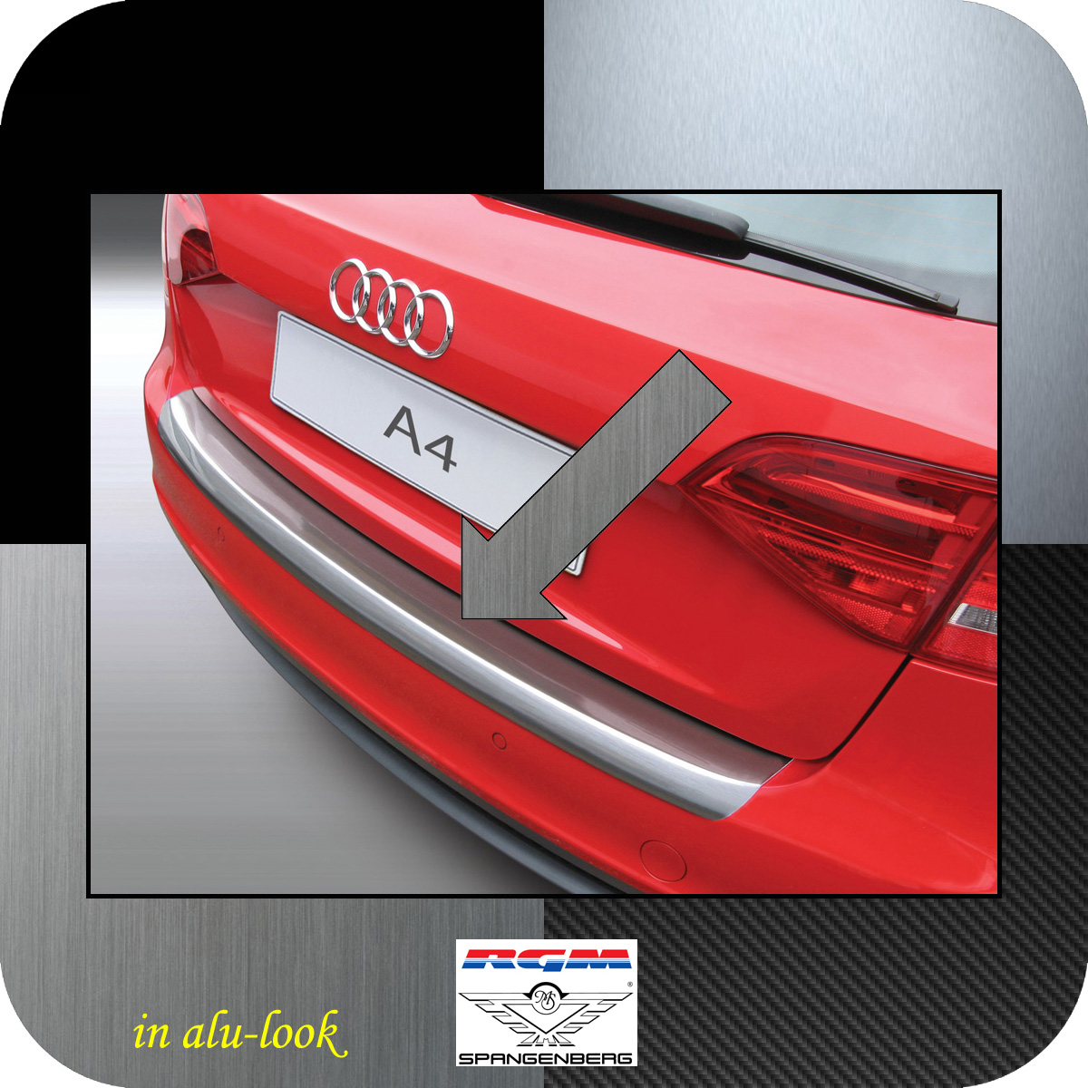 Ladekantenschutz Alu-Look Audi A4 B8 Avant Kombi vor facelift 2008-11 3504159