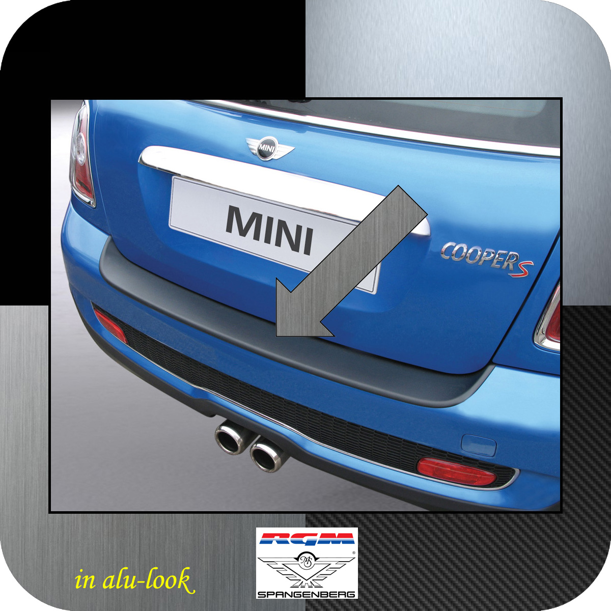 Ladekantenschutz Alu-Look Mini BMW Roadster Cooper R59 ab Bj 2012- 3504102