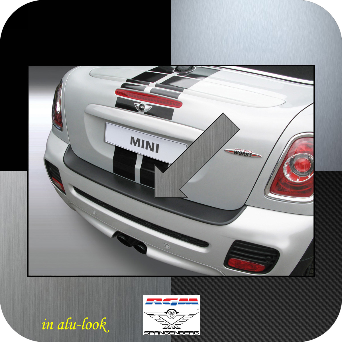 Ladekantenschutz Alu-Look Mini BMW Cabrio One Cooper R57 2009-15 3504102
