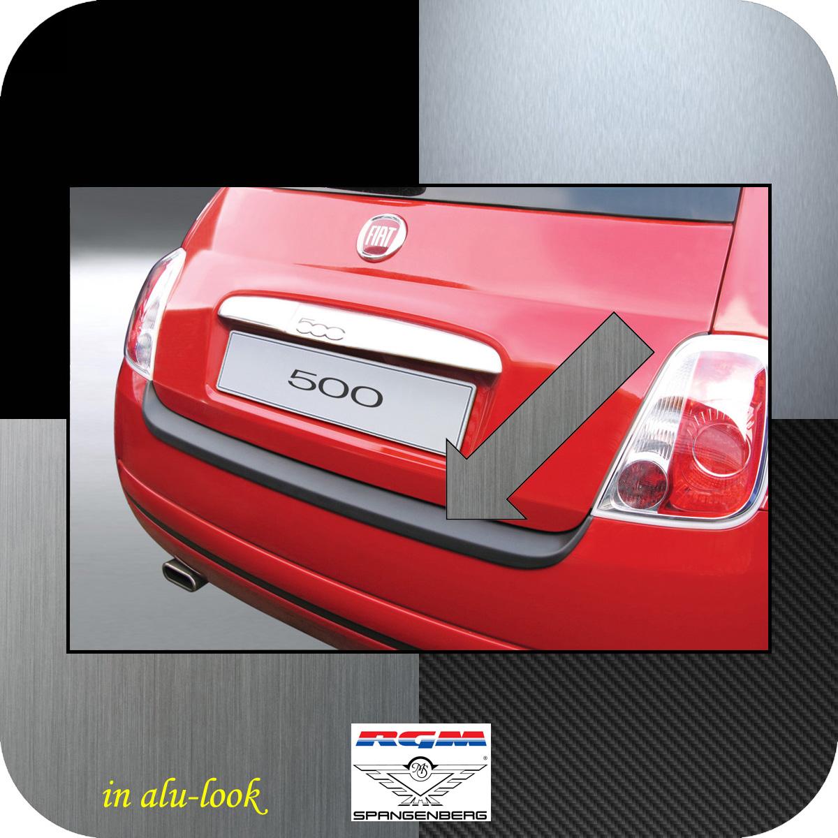 Ladekantenschutz Alu-Look Fiat 500 auch Cabrio vor Mopf 2007-2015 3504135