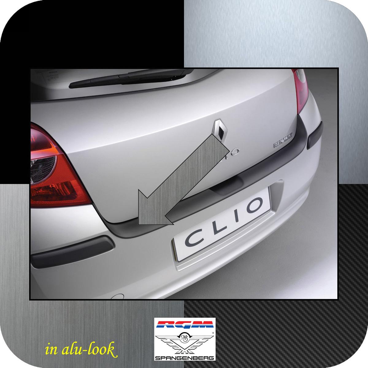 Ladekantenschutz Alu-Look Renault Clio 3 III vor facelift Bj 2005-09 3504145