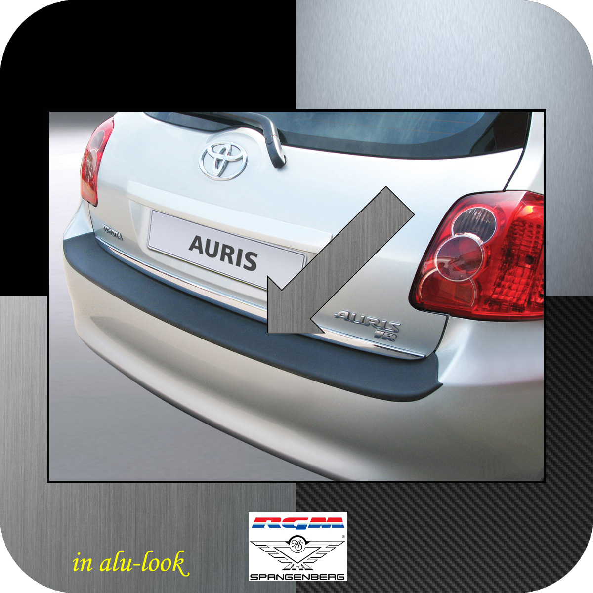 Ladekantenschutz Alu-Look Toyota Auris I Schrägheck vor Mopf 2006-10 3504264
