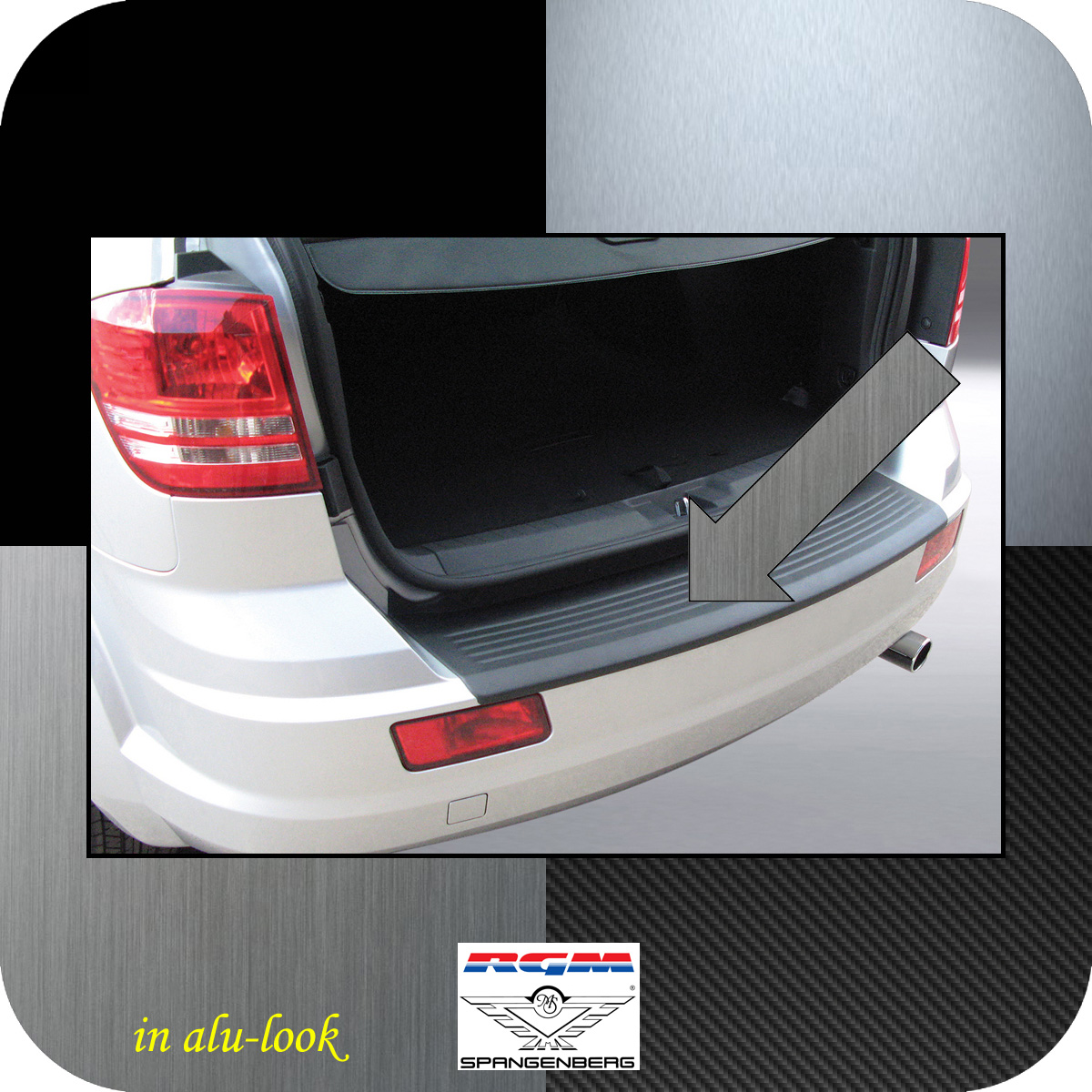 Ladekantenschutz Alu-Look Dodge Journey SUV vor facelift 2007-2011 3504267