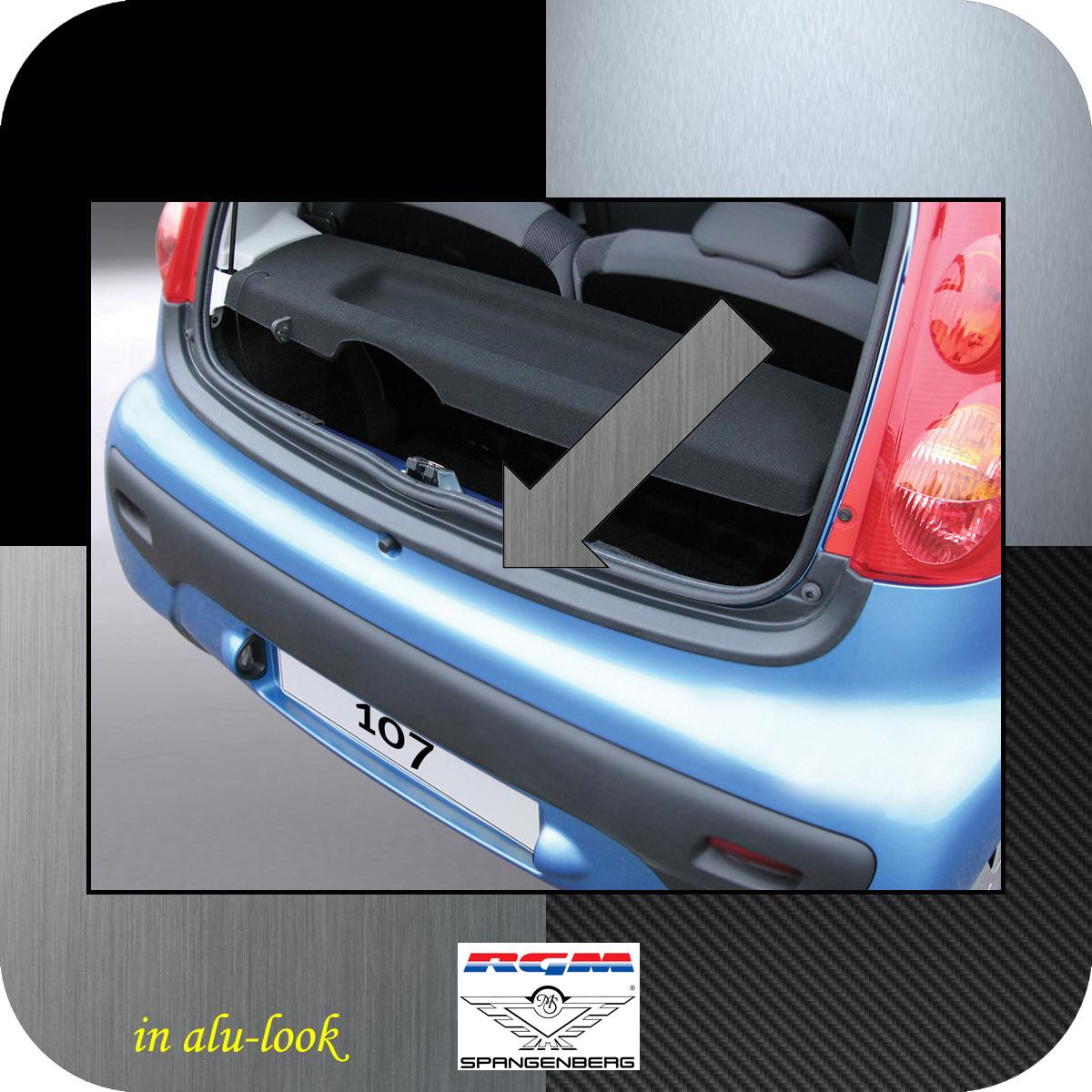 Ladekantenschutz Alu-Look Peugeot 107 Schrägheck ab Baujahr 2005- 3504290