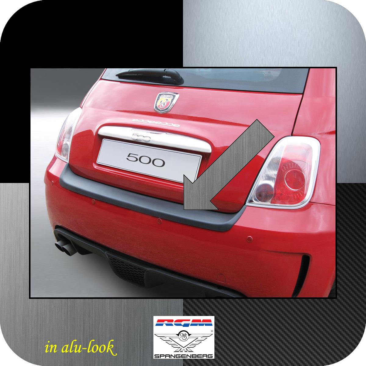 Ladekantenschutz Alu-Look Fiat 500 Version Abarth bis Baujahr 2016 3504476