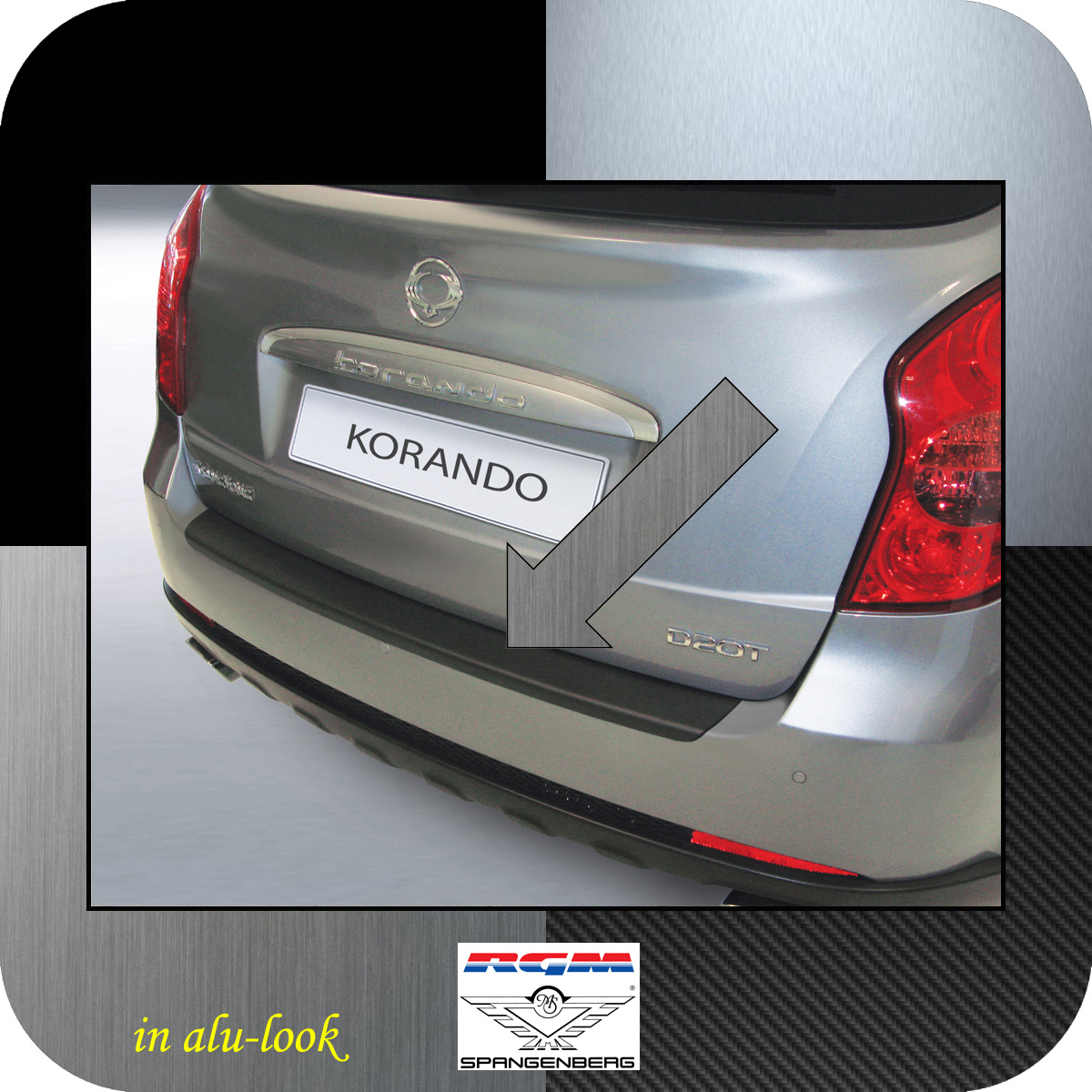 Ladekantenschutz Alu-Look SsangYong Korando SUV Kombi ab Bauj 2010- 3504489
