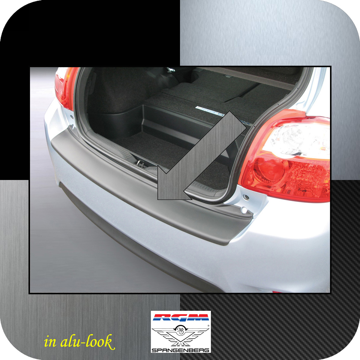 Ladekantenschutz Alu-Look Toyota Auris I Schrägheck ab Mopf 2010-2012 3504515