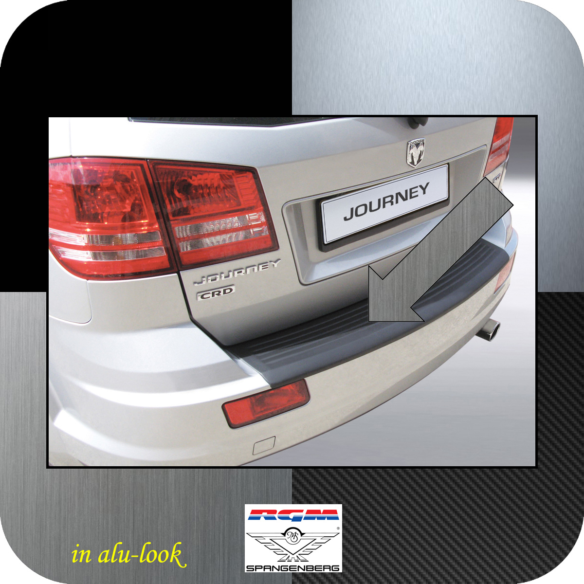 Ladekantenschutz Alu-Look Dodge Journey SUV ab facelift Baujahr 2011- 3504562