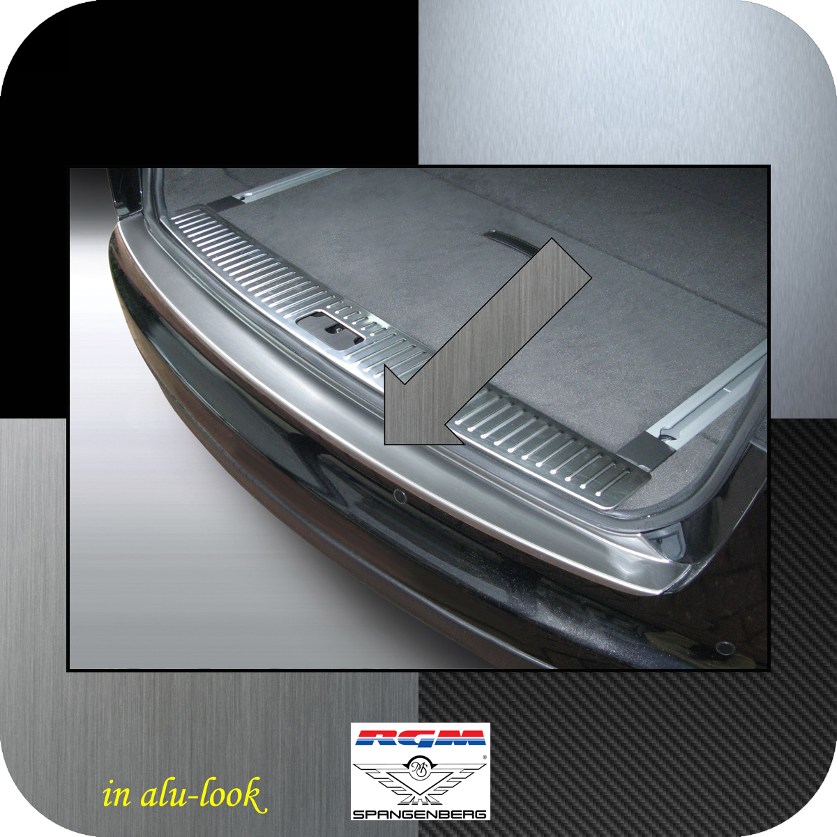 Ladekantenschutz Alu-Look Jaguar XF Sportbrake I X250 Kombi 2012-2014 3504608