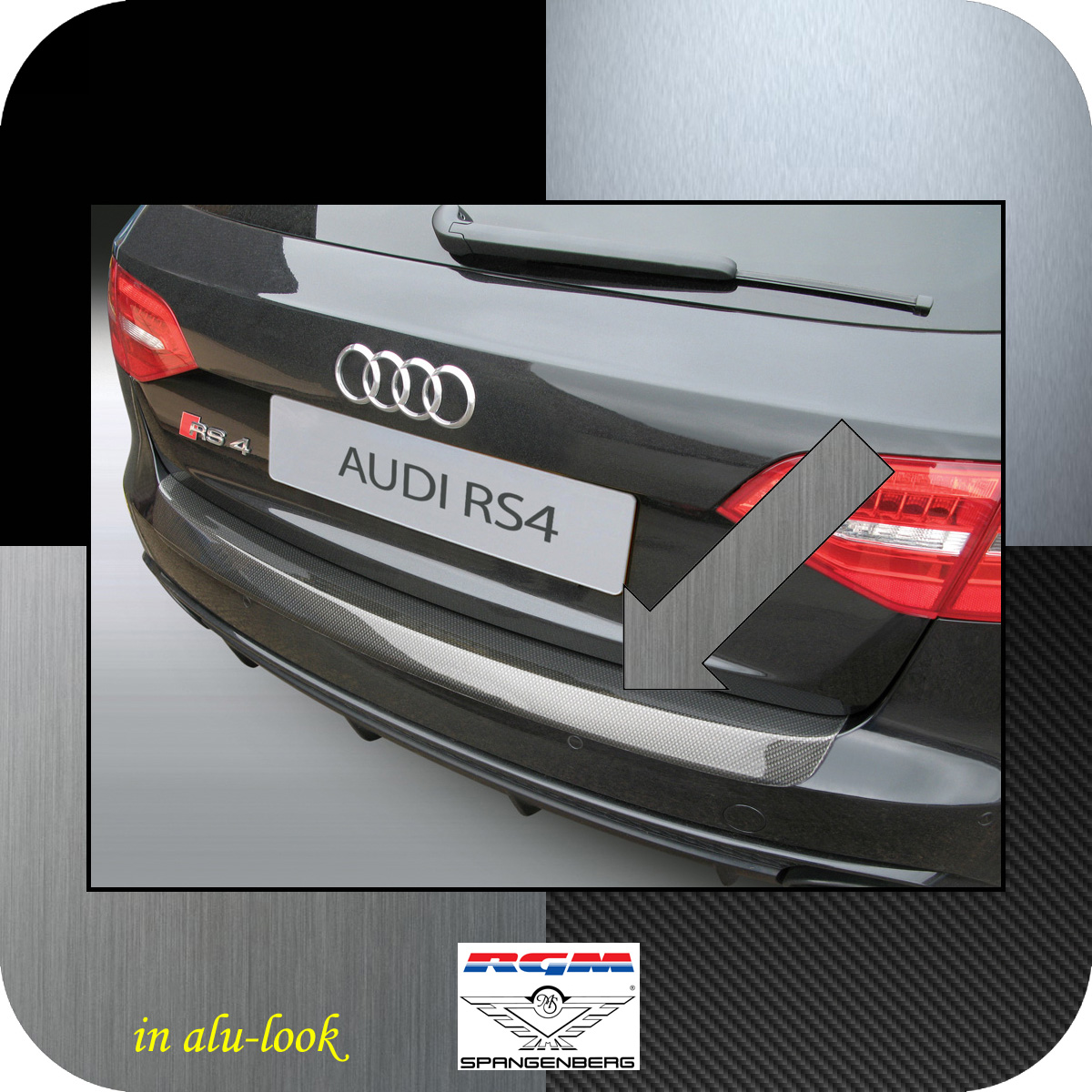 Ladekantenschutz Alu-Look Audi A4 Avant B8 nur RS4 Quattro 03.12-06.16 3504699