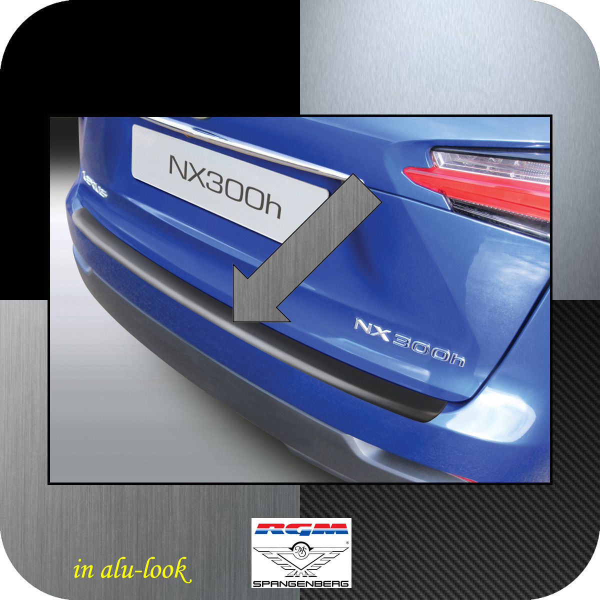 Ladekantenschutz Alu-Look Lexus NX SUV Kombi ab Baujahr 2014- 3504787