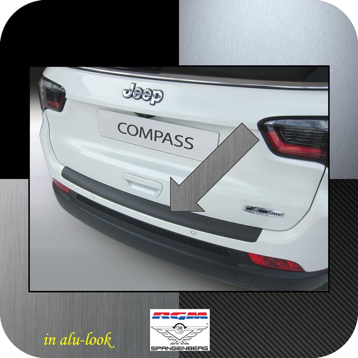 Ladekantenschutz Alu-Look Jeep Compass SUV Typ MX 2. Gen. ab 12.2016- 3504797