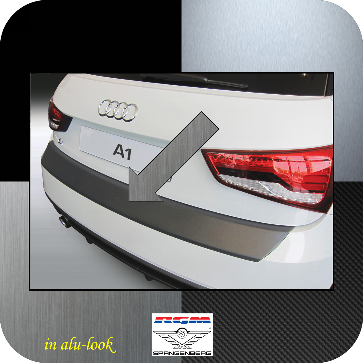 Ladekantenschutz Alu-Look Audi A1 auch Sportback ab facelift 2015-2018 3504887