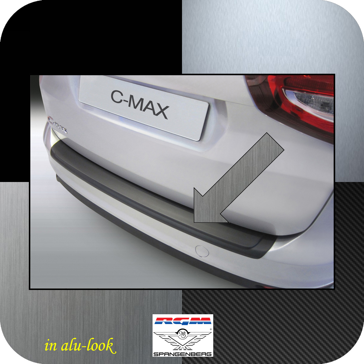 Ladekantenschutz Alu-Look Ford C-MAX II ab facelift Baujahr 2015- 3504889