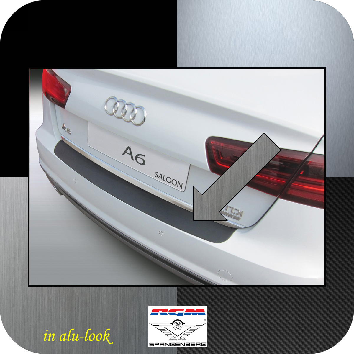 Ladekantenschutz Alu-Look Audi A6 Limousine C7 Baujahre 01.2011-05.2016 3504989
