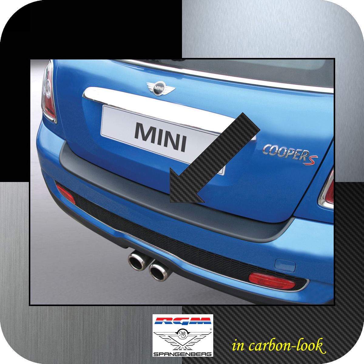 Ladekantenschutz Carbon-Look Mini BMW Roadster Cooper R59 ab Bj 2012- 3509102