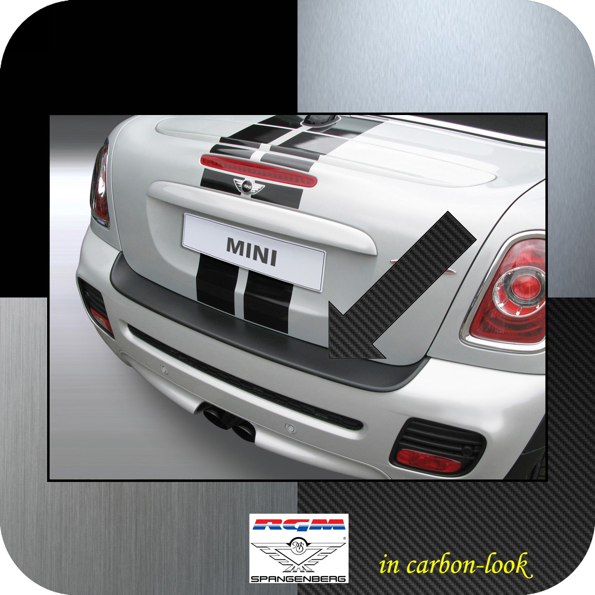 Ladekantenschutz Carbon-Look Mini BMW Cabrio One Cooper R57 2009-15 3509102