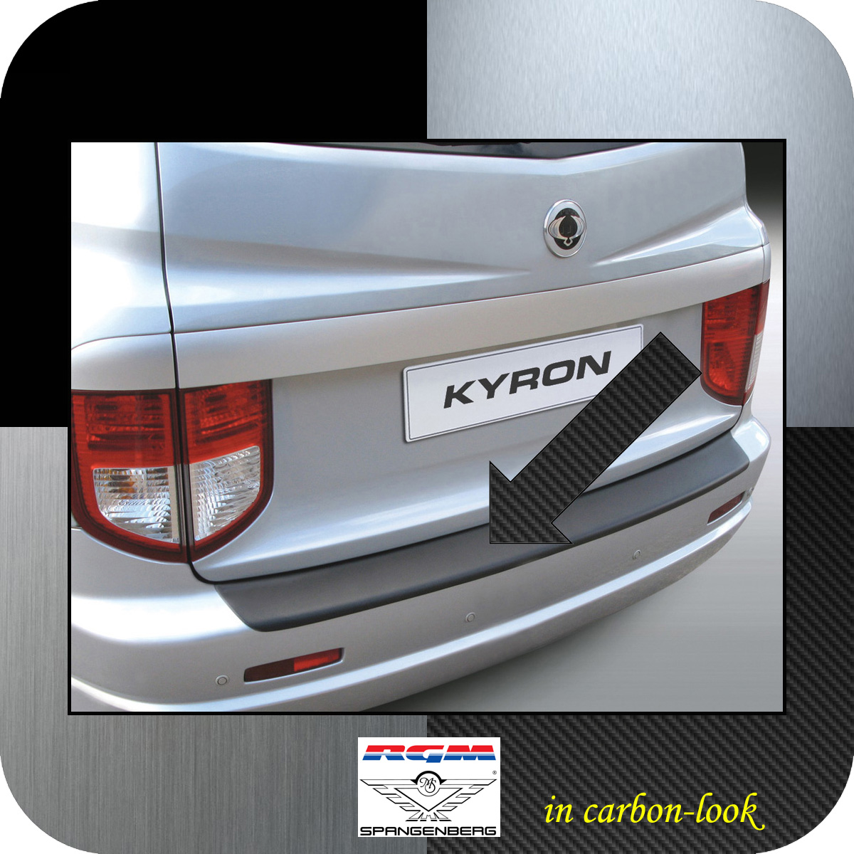 Ladekantenschutz Carbon-Look SsangYong Kyron SUV vor facelift 2005-2007 3509150