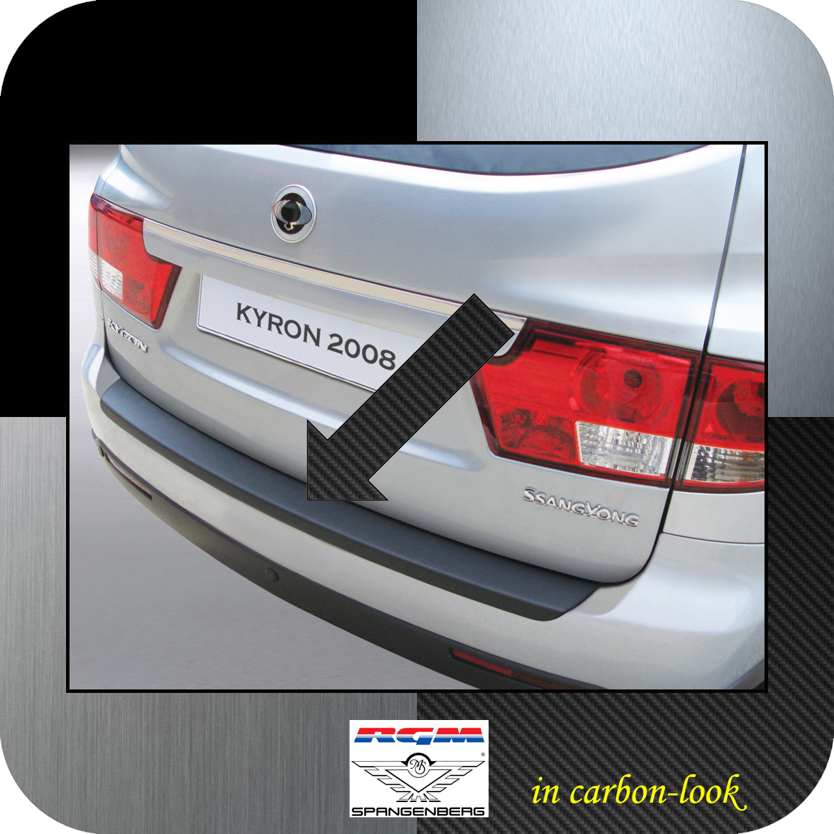 Ladekantenschutz Carbon-Look SsangYong Kyron SUV Kombi facelift 2007- 3509154