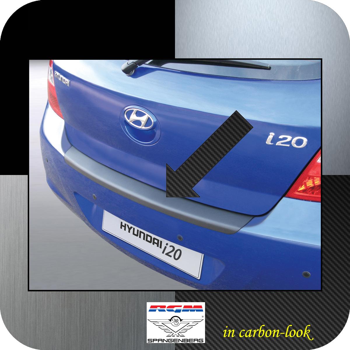 Ladekantenschutz Carbon-Look Hyundai i20 I Schrägheck vor Mopf 2008-12 3509212