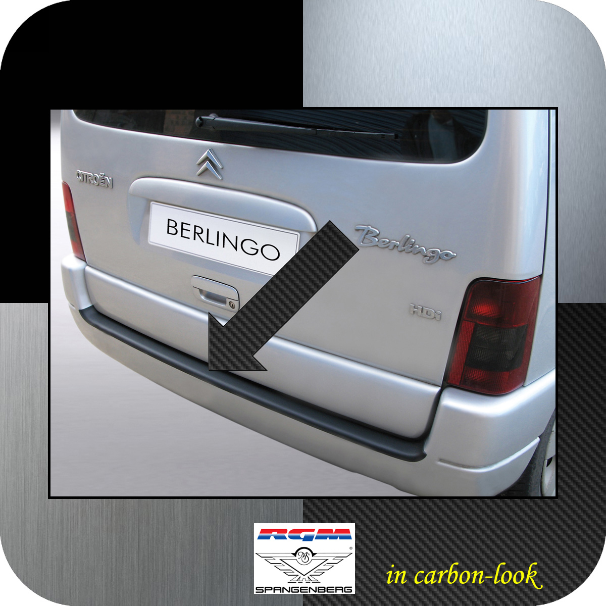 Ladekantenschutz Carbon-Look Citroen Berlingo I bis Baujahr 2008 3509258