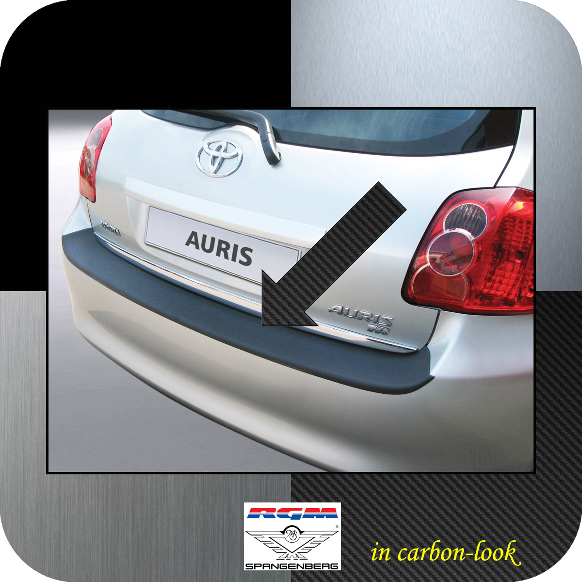 Ladekantenschutz Carbon-Look Toyota Auris I Schrägheck vor Mopf 2006-10 3509264