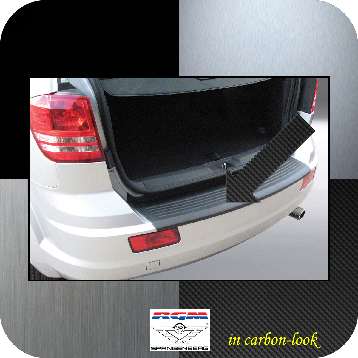 Ladekantenschutz Carbon-Look Dodge Journey SUV vor facelift 2007-2011 3509267