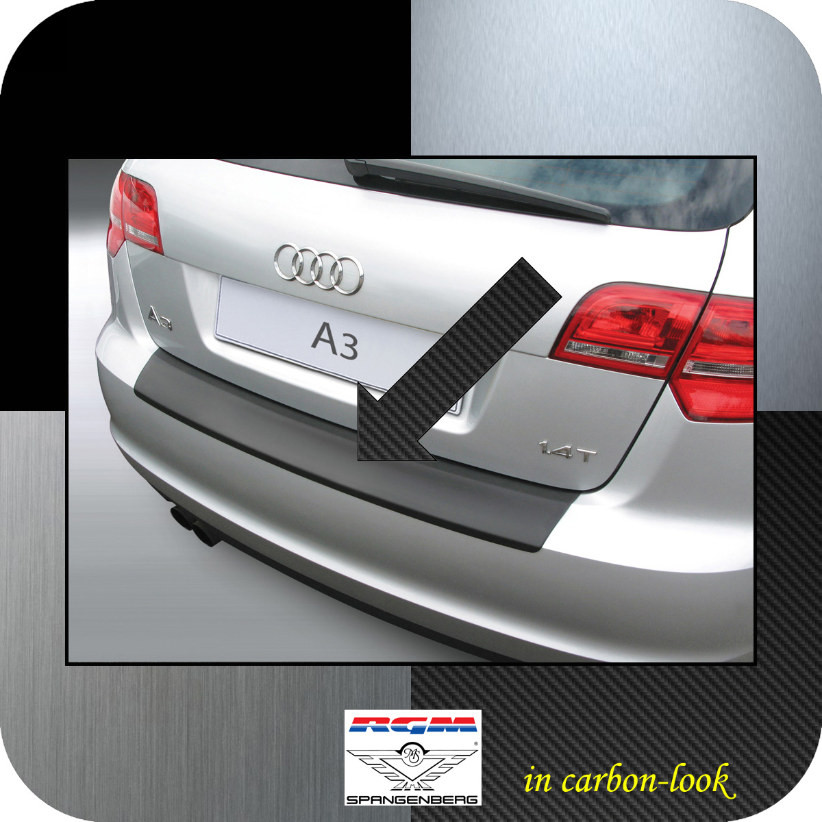 Ladekantenschutz Carbon-Look Audi A3 Sportback auch S3 ab Mopf 2008-13 3509362