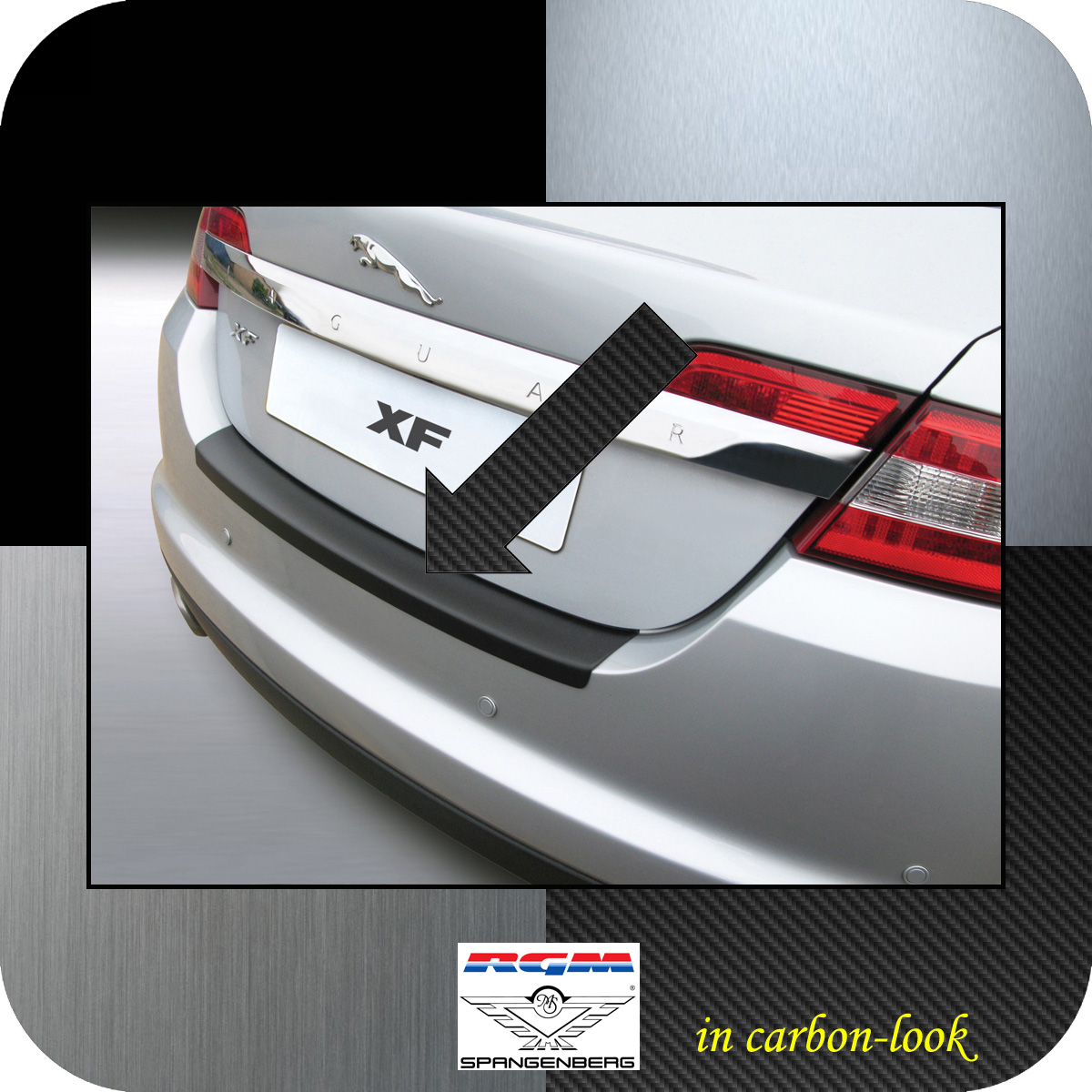 Ladekantenschutz Carbon-Look Jaguar XF I X250 Limousine Baujahre 2008-15 3509392