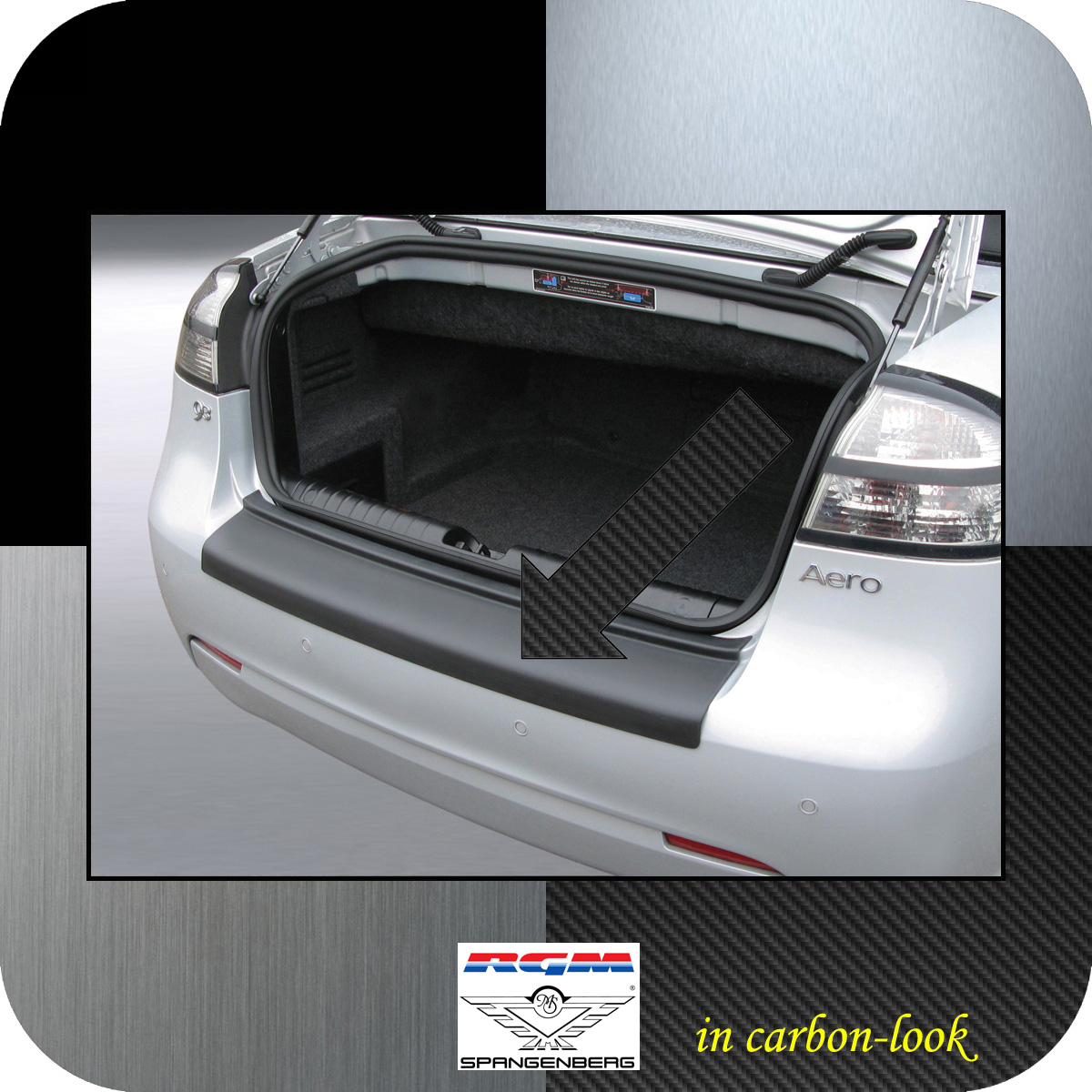 Ladekantenschutz Carbon-Look Saab 9-3 II Cabrio 2-türig ab Mopf 2007-15 3509406