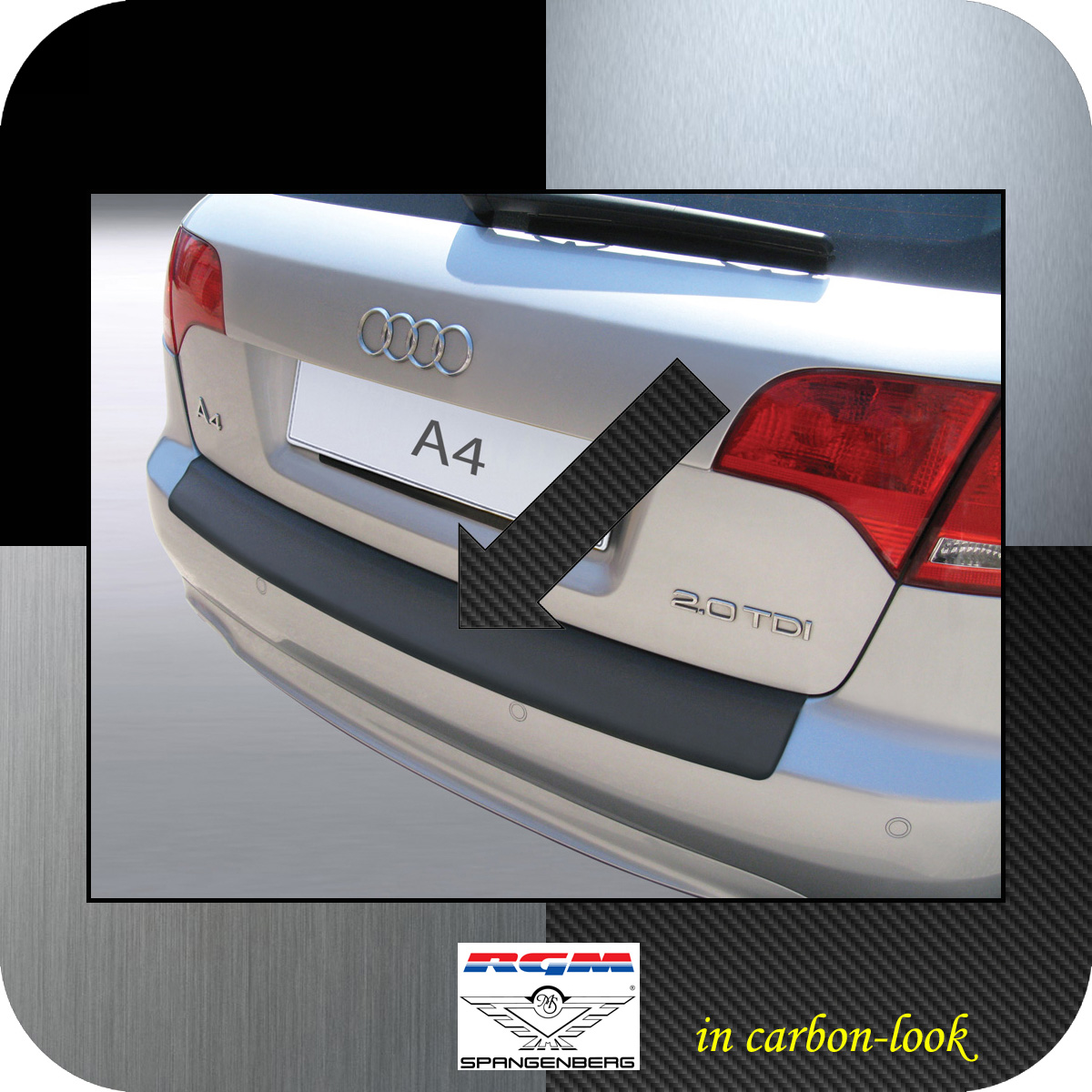 Ladekantenschutz Carbon-Look Audi A4 B7 Avant Kombi auch S-Line 2004-08 3509462