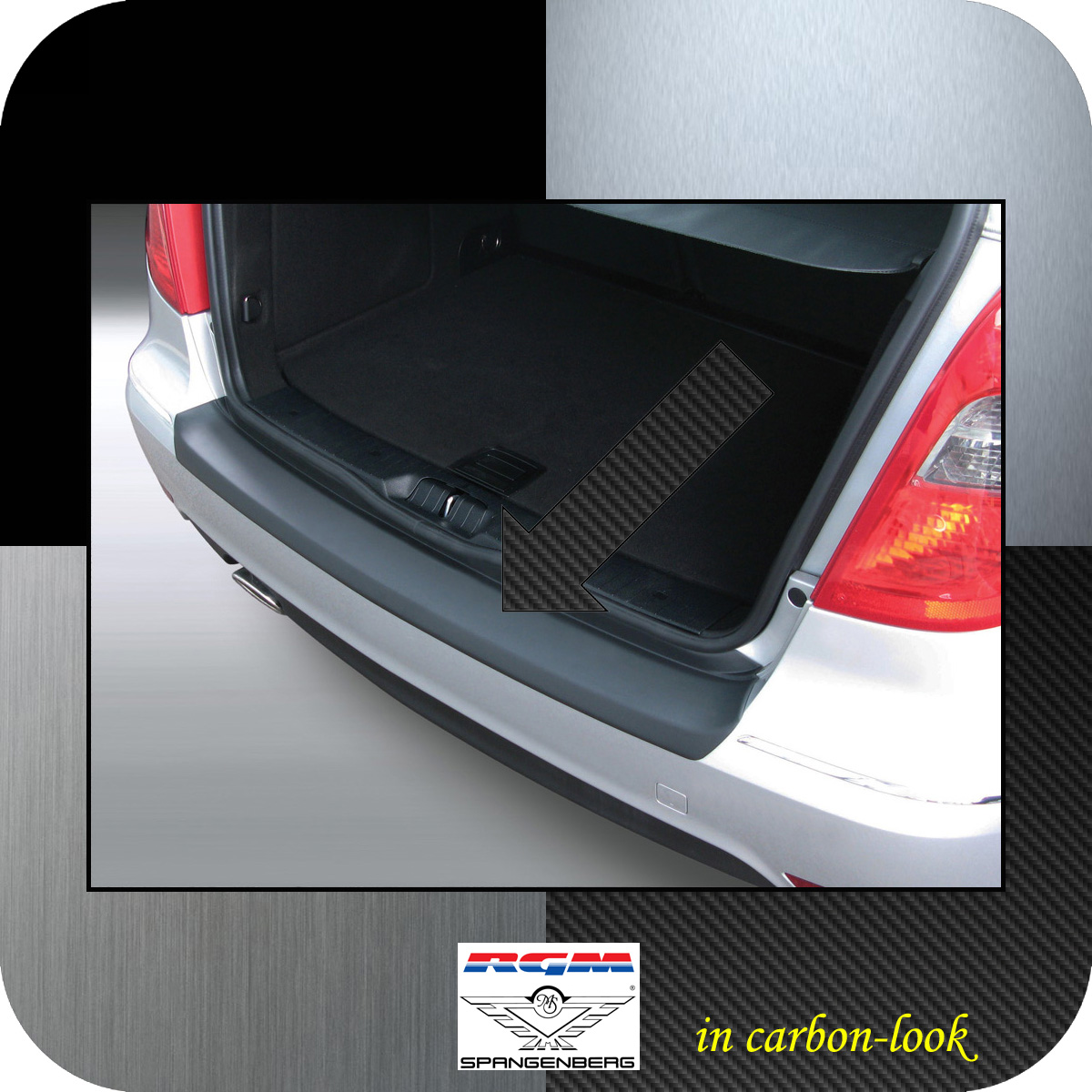 Ladekantenschutz Carbon-Look Mercedes A-Klasse W169 ab facelift 2008-12 3509474