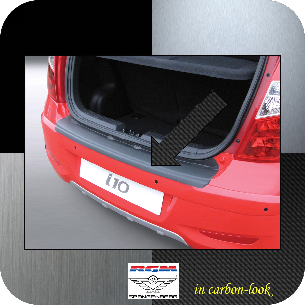 Ladekantenschutz Carbon-Look Hyundai i10 I Schrägheck ab Mopf 2011-2013 3509497