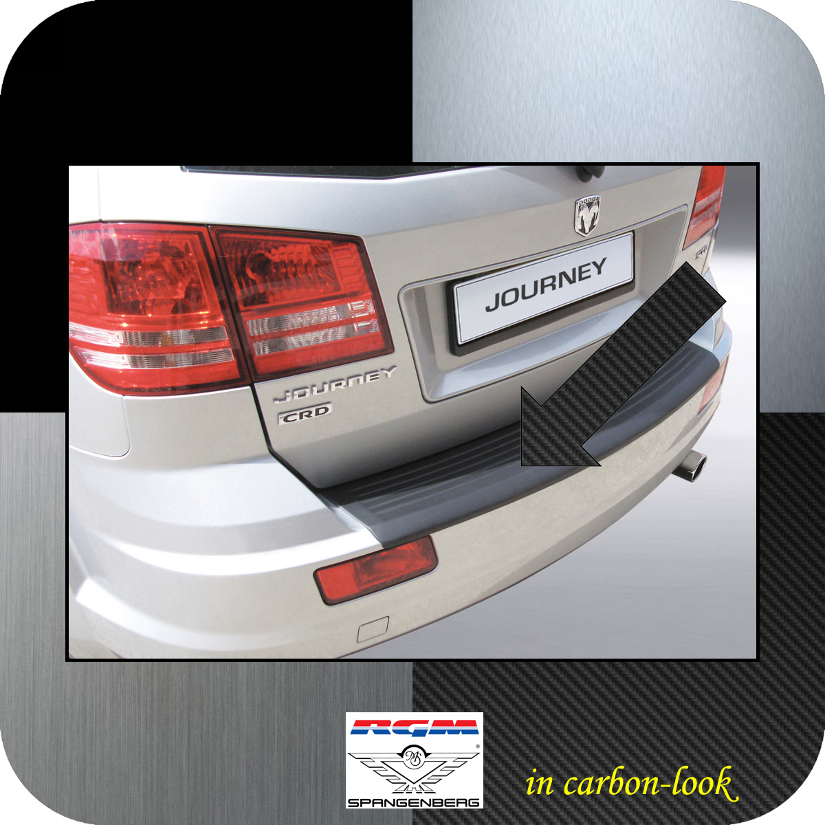 Ladekantenschutz Carbon-Look Dodge Journey SUV ab facelift Baujahr 2011- 3509562