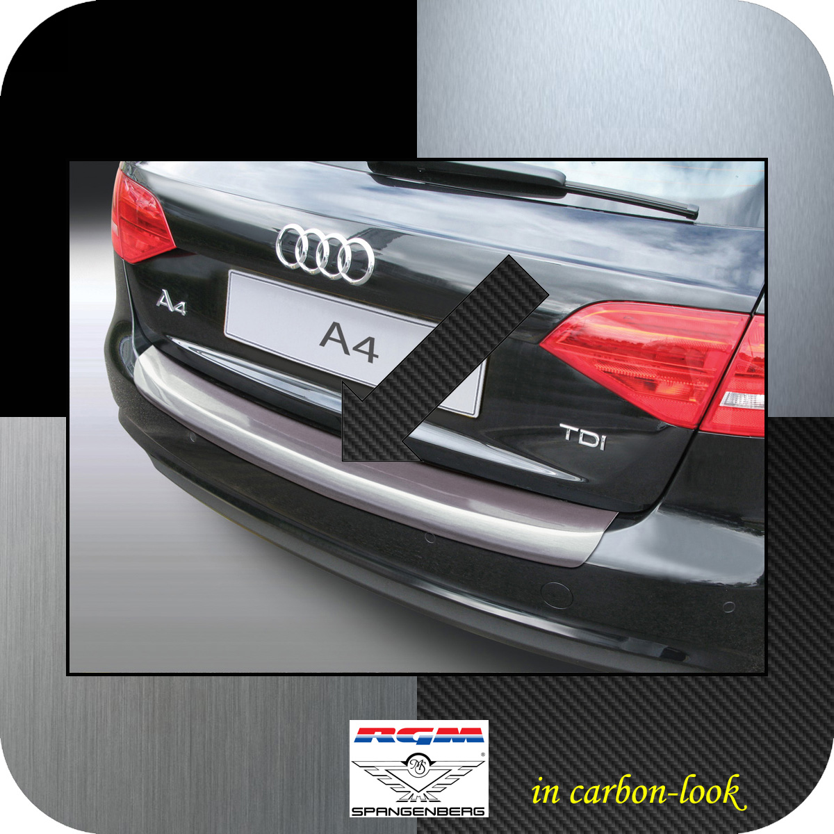 Ladekantenschutz Carbon-Look Audi A4 B8 Avant Mopf 2011-2015 auch S-Line 3509566