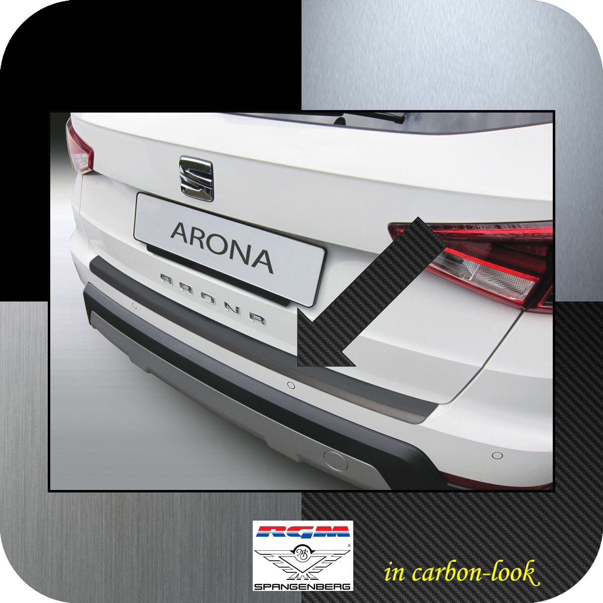 Ladekantenschutz Carbon-Look Seat Arona SUV Crossover ab 11.2017- 3509624