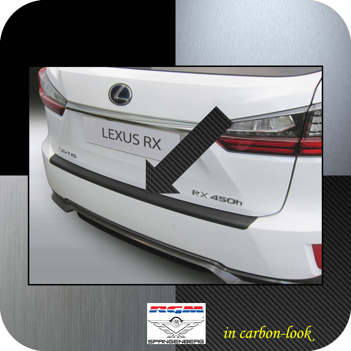 Ladekantenschutz Carbon-Look Lexus RX 200 & 450 SUV ab Baujahr 10.2015- 3509637